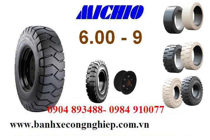 ốp xe đặc Michio kích thước 600-9, xuất xứ Thái Lan