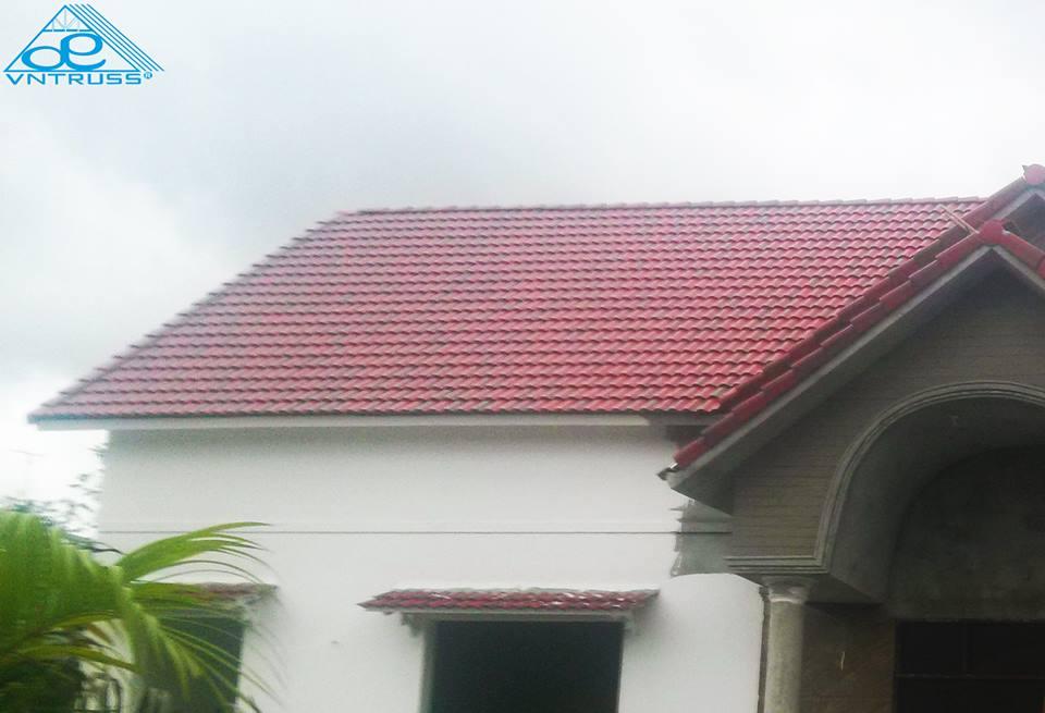 Vì kèo thép mạ siêu nhẹ VNTRUSS lợp mái ngói  Tây Ninh