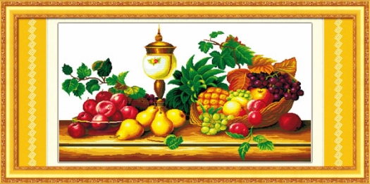 tranh hoa quả