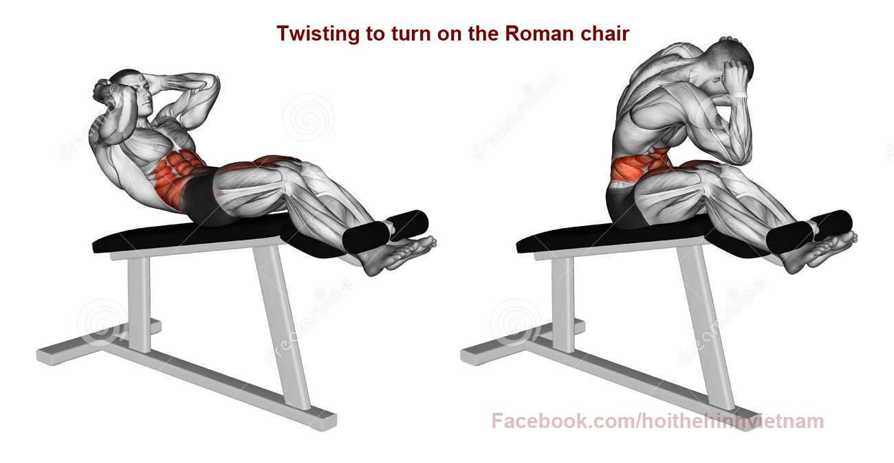 tập bụng trên với ghế dốc lên
