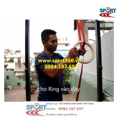 Hướng dẫn dùng khóa thắt và điều chỉnh vòng xà treo ring dip