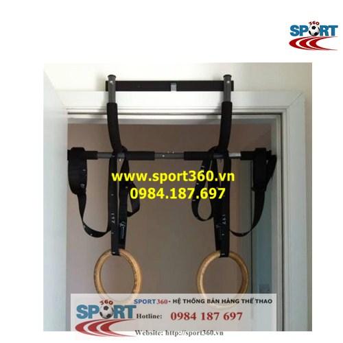 treo vòng treo ring dip trên xà đơn iron gym