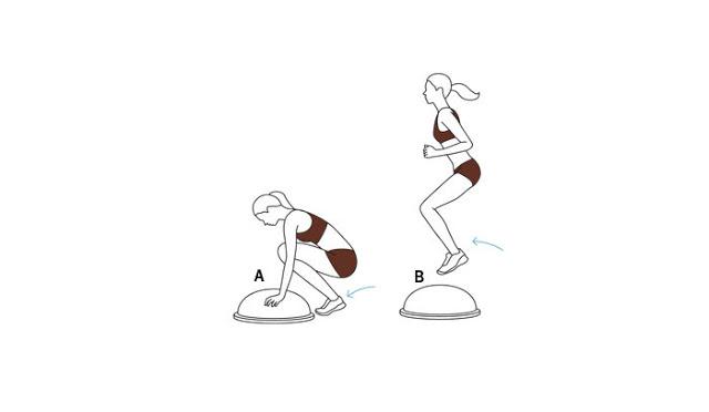 6 bài tập với bóng Bosu cho thân hình cân đối
