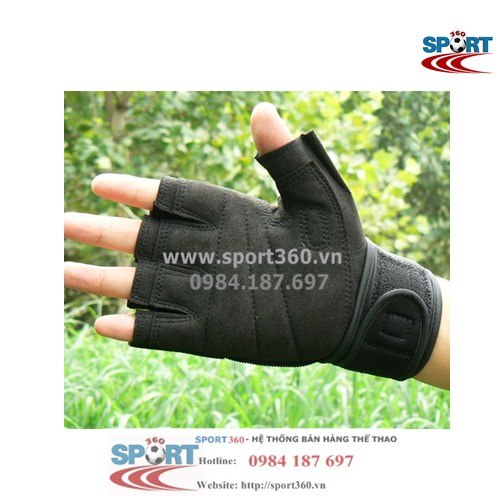 Găng tay tập Gym Sports cao cấp SP13 màu đen