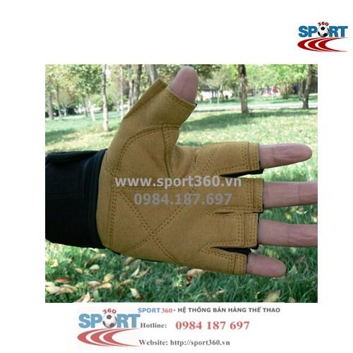 Găng tay tập Gym Sports cao cấp SP13 màu vàng da bò