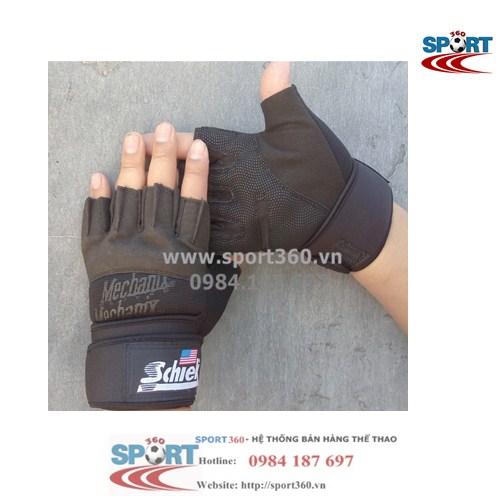 Găng tay tập Gym SCHIEK giá rẻ SP12 màu đen