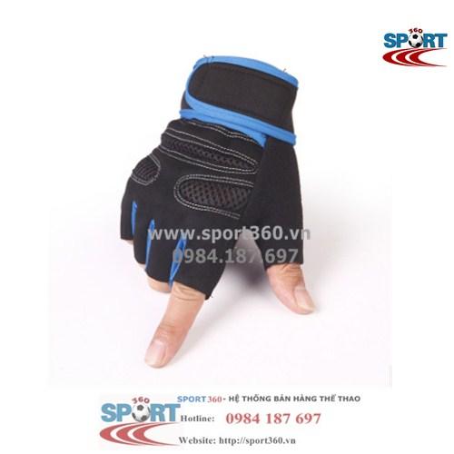 Găng tay tập Gym SP08 màu xanh