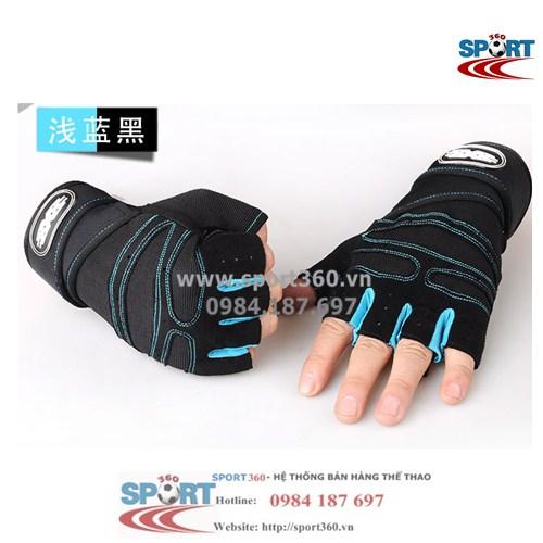 Găng tay tập Gym SP11 màu xanh nhạt