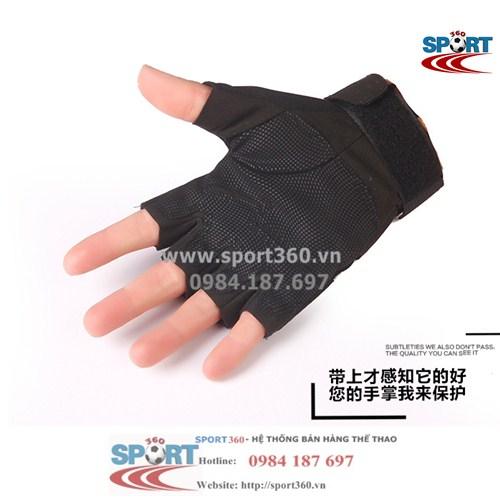 Găng tay tập Gym đa năng SP17 màu đen