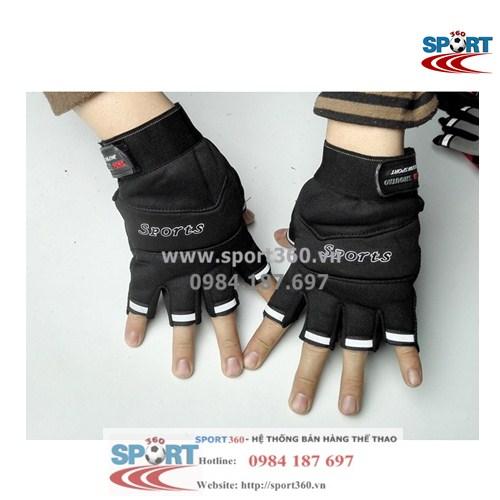 Găng tay tập Gym SP18 sport giá rẻ màu đen