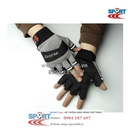 Găng tay tập Gym SP18 sport giá rẻ màu xám