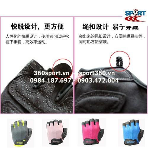 Găng tay tập Gym nữ cao cấp SP19 thiết kế tinh tế