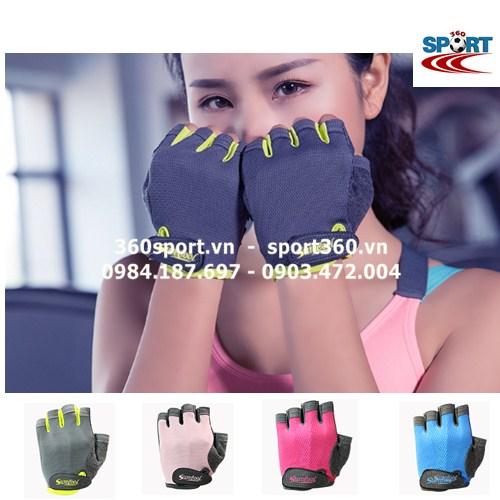 Găng tay tập Gym nữ cao cấp SP19 màu đen
