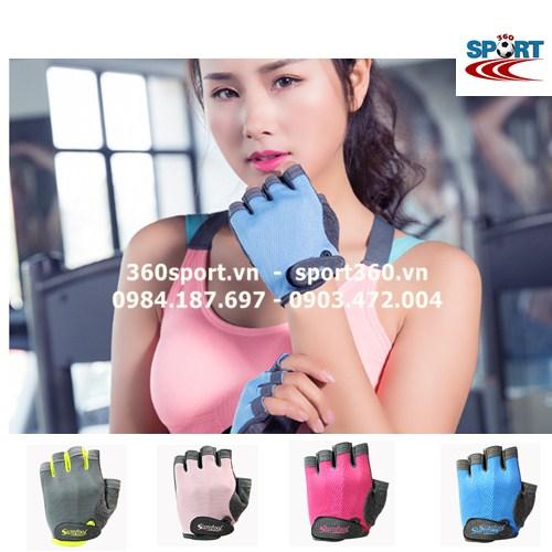 Găng tay tập Gym nữ cao cấp SP19 màu xanh