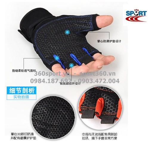 chất liệu lòng bàn tay Găng tay tập Gym SP11 bền chắc