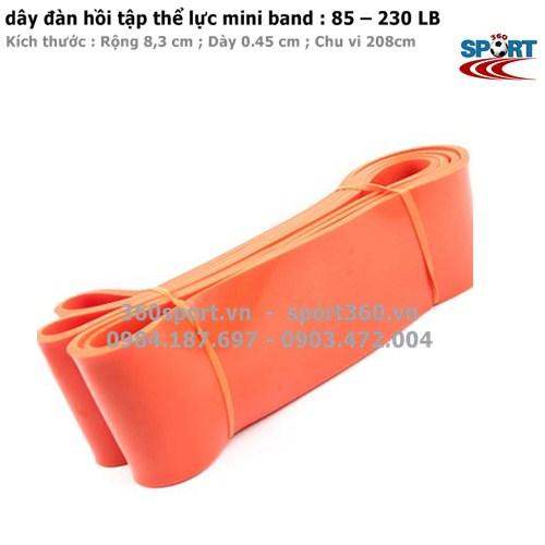 Dây đàn hồi tập thể lực mini band  85 – 230 LB