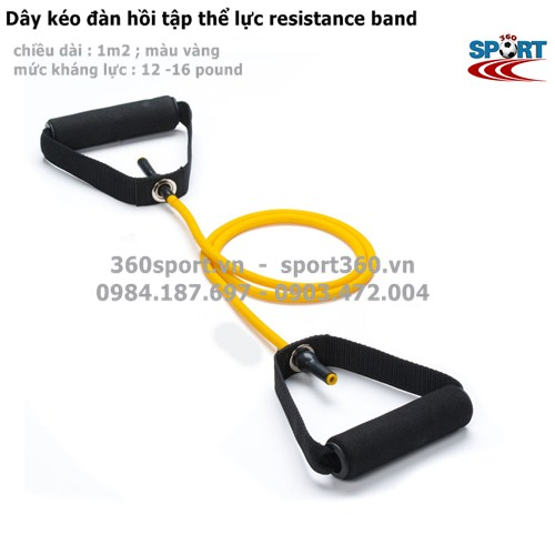 Dây kéo đàn hồi 12 - 16 LB tập thể lực resistance band màu vàng