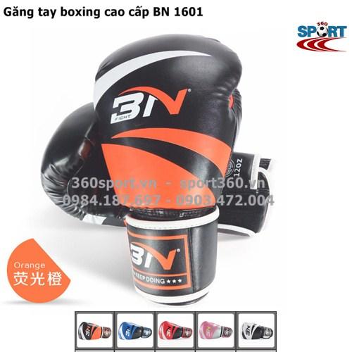 Găng tay boxing cao cấp BN 1601 màu cam