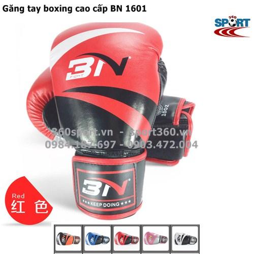 Găng tay boxing cao cấp BN 1601 màu đỏ