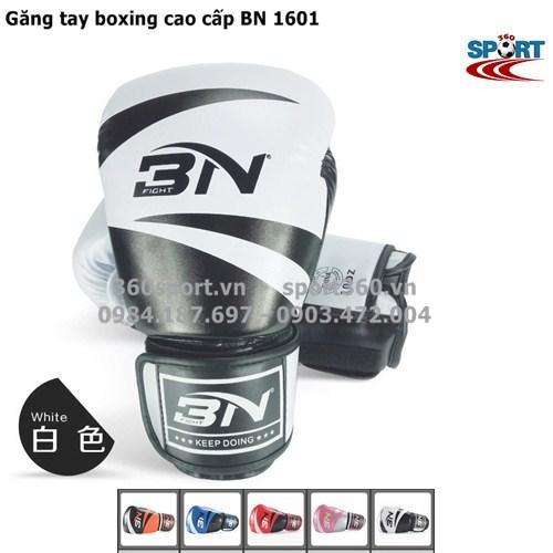 Găng tay boxing cao cấp BN 1601 màu trắng