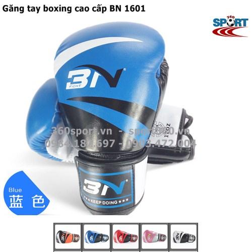 Găng tay boxing cao cấp BN 1601 màu xanh