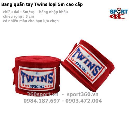 Băng quấn tay Twins loại 5m cao cấp màu đỏ