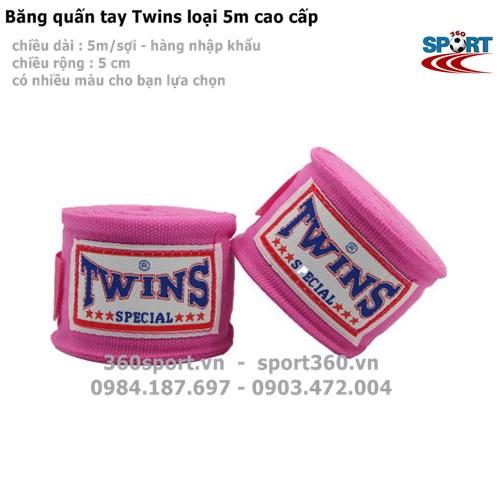 Băng quấn tay Twins loại 5m cao cấp màu hồng