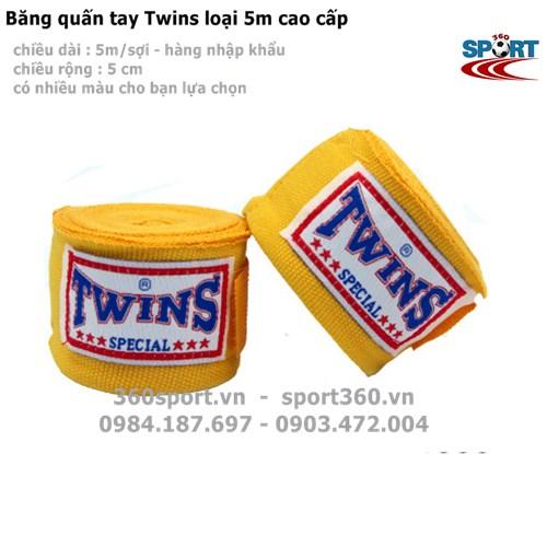 Băng quấn tay Twins loại 5m cao cấp màu vàng