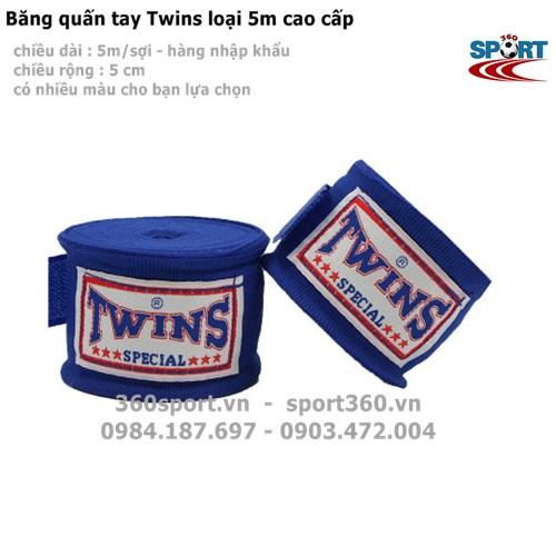 Băng quấn tay Twins loại 5m cao cấp màu xanh