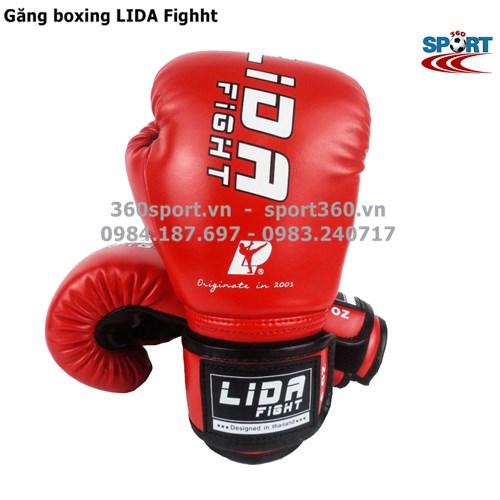 Găng boxing cao cấp LIDA Fighht màu đỏ