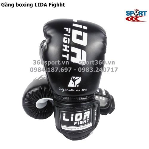 Găng boxing cao cấp LIDA Fighht màu đen