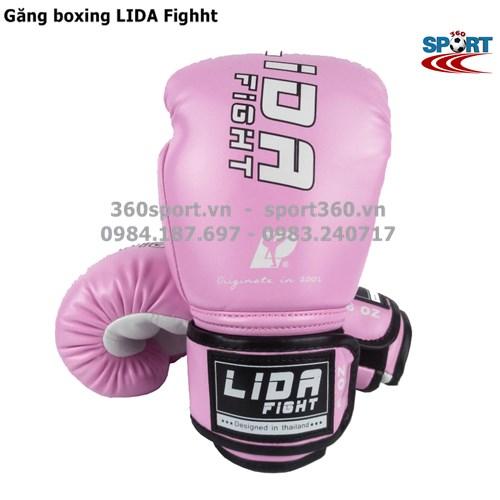 Găng boxing cao cấp LIDA Fighht màu hồng