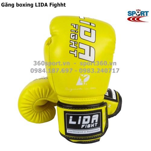Găng boxing cao cấp LIDA Fighht màu vàng