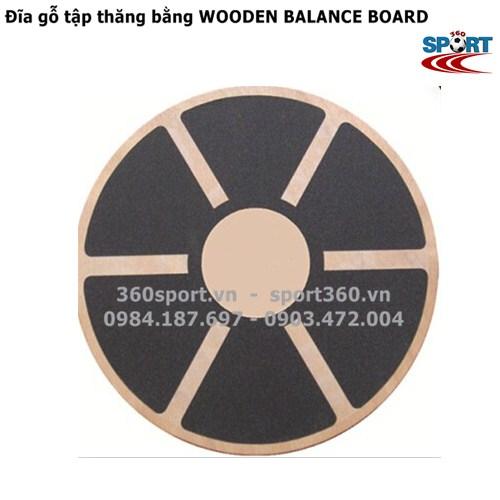 Đĩa gỗ tập thăng bằng WOODEN BALANCE BOARD