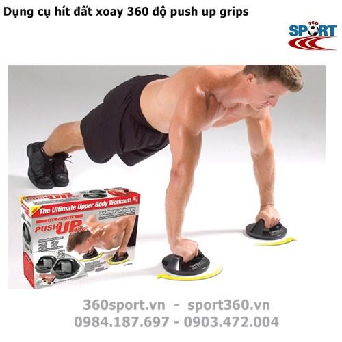 Dụng cụ hít đất xoay 360 độ push up grips
