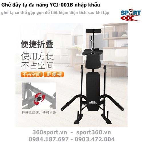 Ghế đẩy tạ đa năng YCJ-001B nhập khẩu có thể gấp gọn