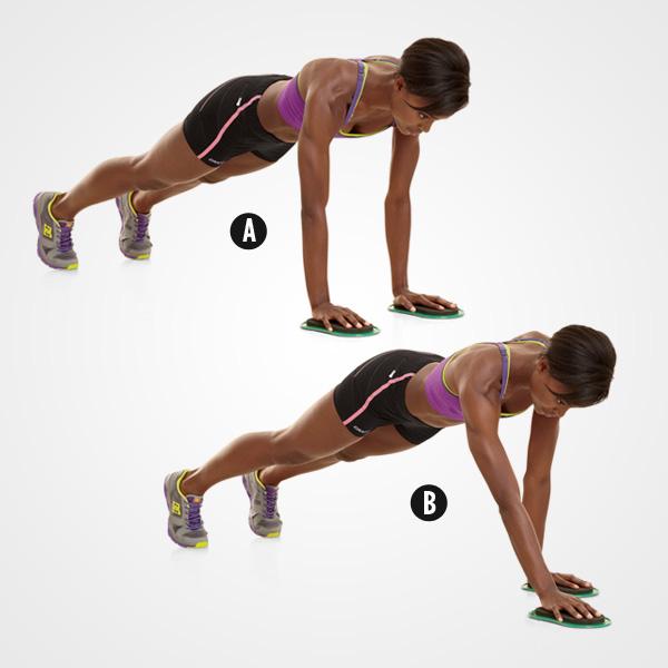 6 Bài tập giảm cân với Đĩa trượt tập thể dục gliding disc