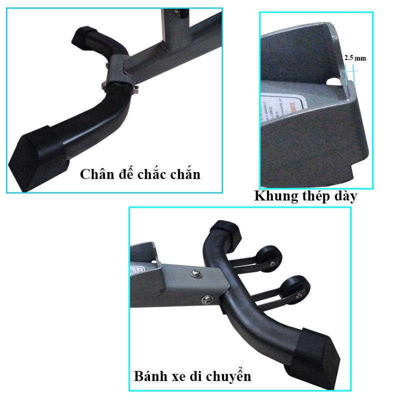 Cấu tạo ghế tập tạ tay Bowplex