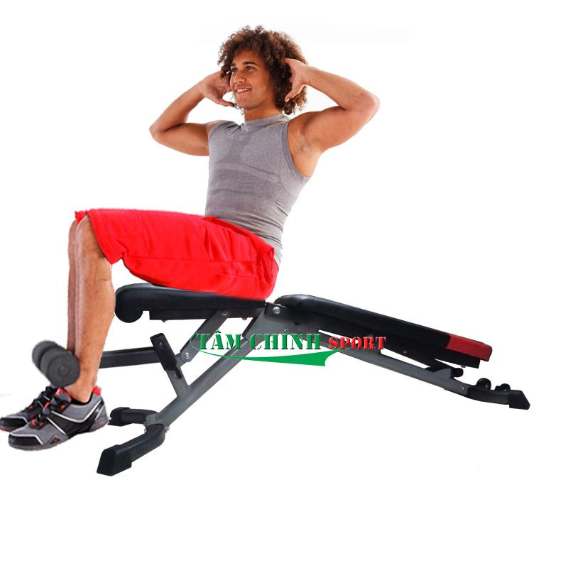 Tập cơ bụng với ghế tập tạ tay Bowplex