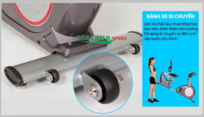 Xe đạp tập YK-B5818R dễ dàng di chuyển