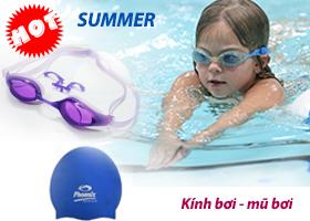 Khuyến mại kính bơi, mũ bơi chính hãng