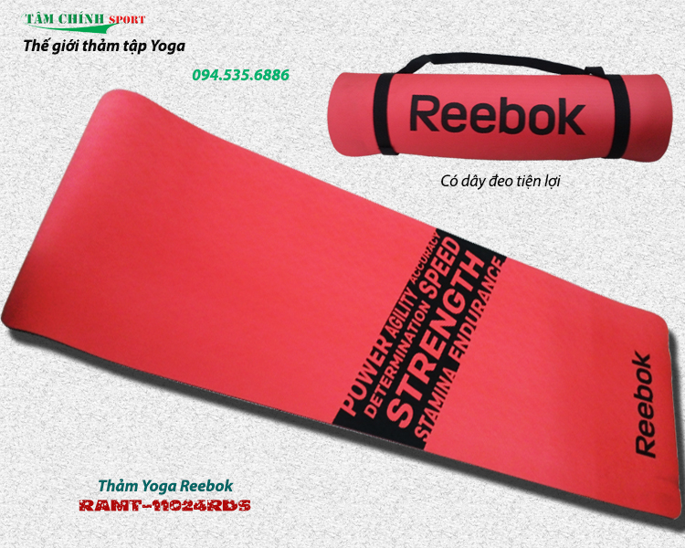 Thảm tập Yoga Reebok RAMT-11024RDS