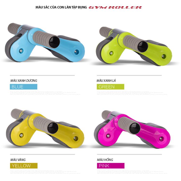 Các màu sắc của con lăn tập bụng Gym Roller