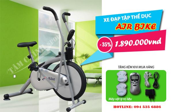 Khuyến mại giảm giá xe đạp tập thể dục Air Bike