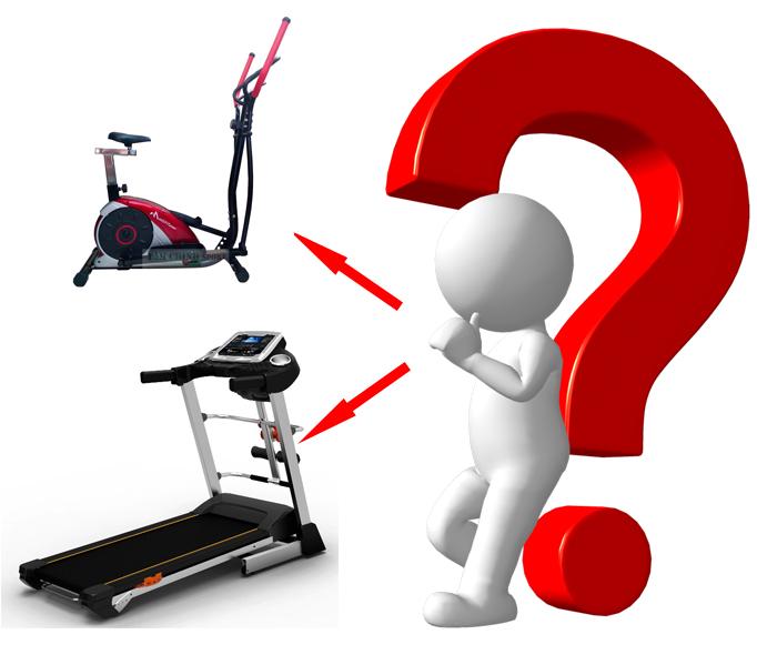 Máy chạy bộ hay xe đạp tập thể dục.