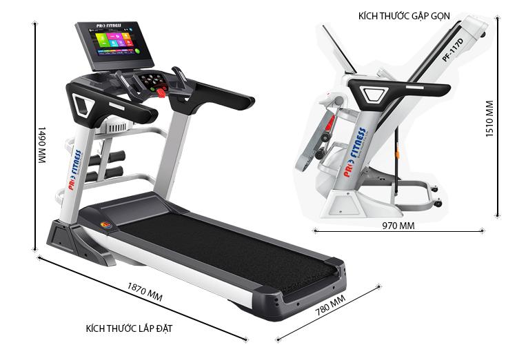 Máy chạy bộ điện Pro Fitness PF-117D giá rẻ