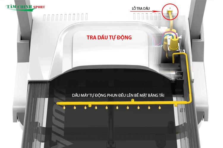 Hệ thống tra dầu tự động máy chạy bộ điện PF-117D