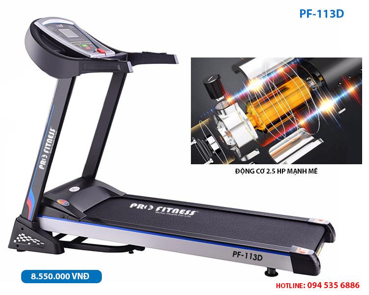 Máy chạy bộ điện pro fitness pf-113d đơn năng