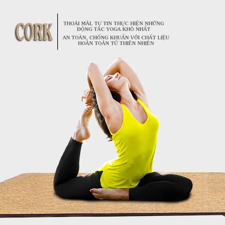 Thảm tập yoga cao cấp Cork