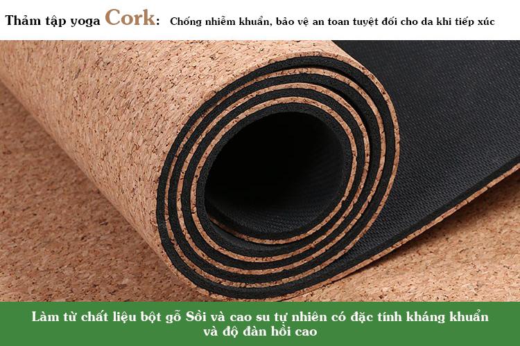 Thảm tập yoga Cork giá rẻ
